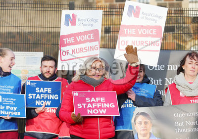 RCN Strike Mater Hospital