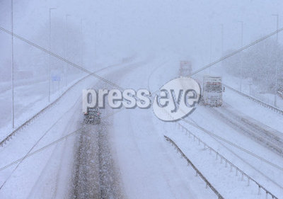 Snow Fall Across Northern Ireland