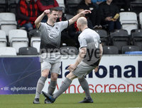 07/12/2019. Danske Bank Premiership, Seaview, Belfast Co. Antrim . Crusaders v Institute. nstitutes Conor Tourish celebrates after scoring . Mandatory Credit INPHO/Stephen Hamilton.