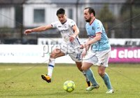 Danske Bank Premiership, The Showgrounds, Ballymena, Co. Antrim 10/3/2018. Ballymena United vs Coleraine. Ballymena United\'s Tony Kane in action with Aaron Traynor of Coleraine. Mandatory Credit ©INPHO/Declan Roughan