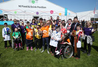 PressEye-Northern Ireland- 16th May 2018-Picture by Brian Little/ PressEye. Riverside Special School pupils Dexter project during the  First day of the 2018 Balmoral Show, in partnership with Ulster Bank, at Balmoral Park. Picture by Brian Little/PressEye