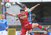 Danske Bank Premiership, Showgrounds, Coleraine , Co. Derry. Northern Ireland 1/5/2021. Coleraine V Cliftonville. Cliftonvilles Michael McCrudden and Coleraines Stephen O\'Donnell.. Mandatory Credit INPHO/Presseye/Lorcan Doherty.