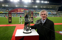 Unite the Union Champions Cup First Leg, National Football Stadium at Windsor Park, Belfast 8/11/2019. Linfield vs Dundalk. Unite Ambassador Pat Jennings . Mandatory Credit  INPHO/Brian Little