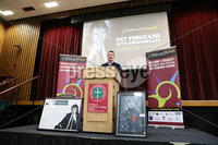 Press Eye - Belfast - Northern Ireland - 10th February 2019 - . Speaker John Finucane pictured at the event at St Marys University College Belfast entitled Pat Finucane 30th Anniversary, A Community Reflects. The event was organised by Feile an Phobail.. Photo by Kelvin Boyes / Press Eye