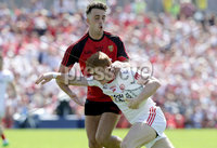 Ulster GAA Senior Football Championship Final, St Tiernach\'s Park, Clones, Co. Monaghan 16/7/2017. Down vs Tyrone. Down\'s Ryan Johnston with Peter Harte of Tyrone. Mandatory Credit ©INPHO/Morgan Treacy