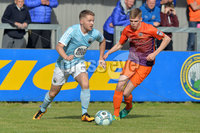 © Presseye.com- August 12th 2017, Danske Bank Premiership.. Warrenpoint Town v Glenavon %:30 Kick off.. Warrenpoint\'s Marty Murray. and Glenavon\'s Rhys Marshall. during Saturday\'s match at Milltown. Photo by TONY HENDRON/Presseye.com. .