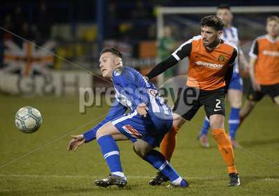 Coleraine vs Carrick Rangers, Dans...