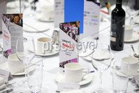 Press Eye - Belfast - Northern Ireland - 6th February 2017 -  . Belfast Telegraph Sports Awards 2016.. AWARD 1. Methodist College Belfast 1st XI  Girls Hockey Team  won the Young Team of the Year award sponsored by Subway and presented by Ireland hockey International Eugene Magee and Scott Hayes, Chairman of Subway Northern Ireland.. Photo by Kelvin Boyes / Press Eye..