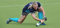 Mandatory Credit: Rowland White/Presseye. Women\'s Irish Hockey League. Teams: Pegasus (red) v Hermes (blue). Venue: The Dub. Date: 21st April 2012. Caption: Kerry McComish, Hermes