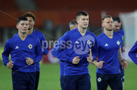 Press Eye - Belfast -  Northern Ireland - 11th October 2018 - Photo by William Cherry/Presseye. Northern Ireland\'s Paddy McNair during Thursday nights training session at the Ernst Happel Stadium in Vienna, ahead of their UEFA Nations League game against Austria.