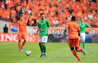 ©Press Eye Ltd Northern Ireland - 1st June 2012. Mandatory Credit - Picture by Darren Kidd/Presseye.com .  . Netherlands v Northern Ireland at the Amsterdam Arena.. Northern Ireland\'s Oliver Norwood