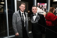 Press Eye - Belfast - Northern Ireland - 14th January 2019.. Craig Gilroy and Pete Snodden pictured at the  Belfast Telegraph Sports Awards 2018 in the ICC Belfast.. Photo by Kelvin Boyes / Press Eye..