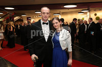 Press Eye - Belfast - Northern Ireland - 14th January 2019.. Gerard and Jennifer Hanna pictured at the  Belfast Telegraph Sports Awards 2018 in the ICC Belfast.. Photo by Kelvin Boyes / Press Eye..