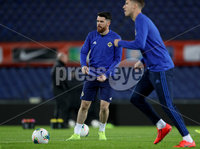 Press Eye - Belfast, Northern Ireland - 09th October 2019 - Photo by William Cherry/Presseye. Northern Ireland\'s Liam Donnelly during Wednesday nights training session at Stadium Feijenoord ahead of Thursday nights UEFA Euro 2020 Qualifier against Netherlands in Rotterdam. Photo by William Cherry/Presseye