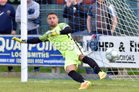 © Presseye.com- August 12th 2017, Danske Bank Premiership.. Warrenpoint Town v Glenavon %:30 Kick off.. Glenavon Keeper Jonny Tuffey is beaten by Darren Murray\'s penalty to make it 2-2. during Saturday\'s match at Milltown. Photo by TONY HENDRON/Presseye.com. .