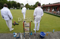 Mandatory Credit: Rowland White/Presseye. Bowls: Inter-Association . Teams: Private Greens League (red and white) v Provincial Bowling Association (white). Venue: Belmont. Date: 2nd June 2012. Caption: Everything a bowler needs