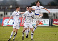 Danske Bank Premiership, The Showgrounds, Ballymena, Co. Antrim 10/3/2018. Ballymena United vs Coleraine. Coleraine\'s Eoin Bradley celebrates scoring . Mandatory Credit ©INPHO/Declan Roughan