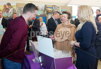 Press Eye - Belfast - Northern Ireland - 16th May 2018. First day of the 2018 Balmoral Show, in partnership with Ulster Bank, at Balmoral Park.  HRH Princess Anne attend the Balmoral show and visits Ulster Bank\'s marquee.  She was guided round by Richard Donnan - Head of Northern Ireland at Ulster Bank and Lynsey Cunningham Regional Director, Entrepreneurship at Ulster Bank.  Princess Anne is pictured chatting to Jack Morton from Jack\'s Fudge.  Jack\'s Fudge was one of the companies provided with free space by Ulster Bank to exhibit in its marquee. The companies include Ulster Bank customers and entrepreneurs from the bank\'s Entrepreneur Accelerator.. Picture by Jonathan Porter/PressEye