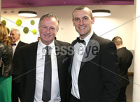 Press Eye - Belfast - Northern Ireland - 14th January 2019.. BELFAST TELEGRAPH SPORTS AWARDS 2018. Oran Kearney and Michael O\'Neill pictured at the  Belfast Telegraph Sports Awards in the ICC Belfast.. Photo by Matt Mackey / Press Eye.
