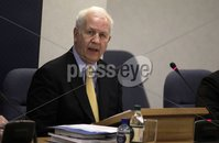 Northern Ireland- 7th June 2012 Mandatory Credit - Photo-Jonathan Porter/Presseye.  Policing Board meeting in public takes place at the Board\'s offices at Clarendon Dock in Belfast.  The Policing Board\'s Chair Brian Rea pictured addressing the meeting.