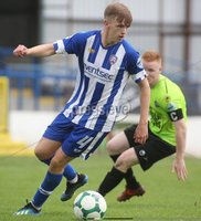 Danske Bank Premiership, Showgrounds, Coleraine 4/8/2018. Coleraine vs Warrenpoint. Coleraine\'s Ciaran Harkin and Warrenpoint\'s Stephen Moan. Mandatory Credit ©INPHO/Lorcan Doherty