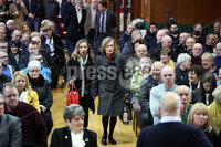 Press Eye - Belfast - Northern Ireland - 10th February 2019 - . Katherine and Geraldine Finucane are pictured at the event at St Marys University College Belfast entitled Pat Finucane 30th Anniversary, A Community Reflects. The event was organised by Feile an Phobail.. Photo by Kelvin Boyes / Press Eye