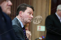 Press Eye - Belfast - Northern Ireland - 10th February 2019 - . Michael Finucane pictured at the event at St Marys University College Belfast entitled Pat Finucane 30th Anniversary, A Community Reflects. The event was organised by Feile an Phobail.. Photo by Kelvin Boyes / Press Eye