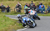 Mandatory Credit: Rowland White / PressEye. ULSTER GRAND PRIX. Venue: Dundrod. Date: 12th August 2017. Class: SUPERSPORT RACE. Caption: Paul Jordan (38) and Derek McGee (86)