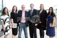 Press Eye © Belfast - Northern Ireland. Photo by Freddie Parkinson / Press Eye ©. Friday 8 September 2017. West Coast Cooler Race Evening at Down Royal Racecourse. Helen Malone, Grace O\'Neill, Andy Guiney, Stephen Mackey, Olesja Martinova and Derdie Magee