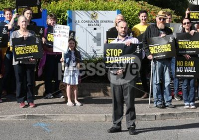 Protest at US Consulate General in...