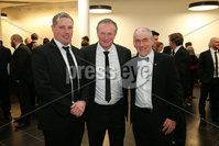 Press Eye - Belfast - Northern Ireland - 6th February 2017 -  . Belfast Telegraph Sports Awards 2016.. Gavin Devlin, Michael O\'Neill and Mickey Harte pictured at the Belfast Telegraph Sports Awards 2016 in the Waterfront Hall.. Photo by Kelvin Boyes / Press Eye..