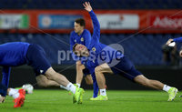 Press Eye - Belfast, Northern Ireland - 09th October 2019 - Photo by William Cherry/Presseye. Northern Ireland\'s Jordan Thompson during Wednesday nights training session at Stadium Feijenoord ahead of Thursday nights UEFA Euro 2020 Qualifier against Netherlands in Rotterdam. Photo by William Cherry/Presseye
