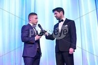 Press Eye - Belfast - Northern Ireland - 6th February 2017 -  . Belfast Telegraph Sports Awards 2016.. Carl Frampton and Craig Doyle.. Photo by Kelvin Boyes / Press Eye..