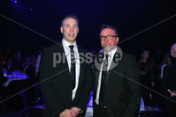 Press Eye - Belfast - Northern Ireland - 6th February 2017 -  . Belfast Telegraph Sports Awards 2016.. Stephen Ferris and Brian Scott pictured at the Belfast Telegraph Sports Awards 2016 in the Waterfront Hall.. Photo by Kelvin Boyes / Press Eye..