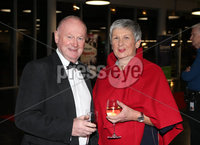 Press Eye - Belfast - Northern Ireland - 14th January 2019.. BELFAST TELEGRAPH SPORTS AWARDS 2018. Mervyn Whyte MBE and wife Hazel pictured at the  Belfast Telegraph Sports Awards in the ICC Belfast.. Photo by Matt Mackey / Press Eye.