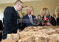 Press Eye - Belfast -  Northern Ireland - 22nd May 2019 - Photo by William Cherry/Presseye. . The Prince of Wales is pictured at the Palace Demesne, Armagh during his 2 day visit to Northern Ireland. He met Roger Wilson, Armagh, Banbridge and Craigavon Council CEO and the Lord Mayor Mealla Campbell..
