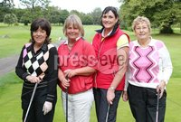 1 September 15 -   Picture by Darren Kidd / Press Eye.. Hillsborough Oyster Festival 2015:. The Oyster Masters at Lisburn Golf Club:  Barbara Hawkins, Janice Wallace, Julie Robinson and Margaret Rosbotham