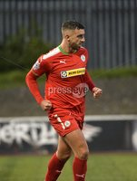 7th August 2018. Danske Bank Irish premier league match between Cliftonville and Institute at Solitude in Belfast.. Cliftonvilles Joe Gormley celebrates scoring his sides second goal.  Mandatory Credit: Stephen Hamilton /Inpho