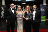 Press Eye - Belfast - Northern Ireland - 14th January 2019.. Terry Lyness, Jenny Lyness, Sandra Mutch and Phillip Mutch pictured at the  Belfast Telegraph Sports Awards 2018 in the ICC Belfast.. Photo by Kelvin Boyes / Press Eye..