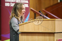 Press Eye - Belfast - Northern Ireland - 10th February 2019 - . Katherine Finucane pictured at the event at St Marys University College Belfast entitled Pat Finucane 30th Anniversary, A Community Reflects. The event was organised by Feile an Phobail.. Photo by Kelvin Boyes / Press Eye