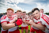 Ulster GAA Minor Football Championship Final, St Tiernach\'s Park, Clones, Co. Monaghan 16/7/2017. Derry vs Cavan. Derry players celebrate. Mandatory Credit ©INPHO/Morgan Treacy