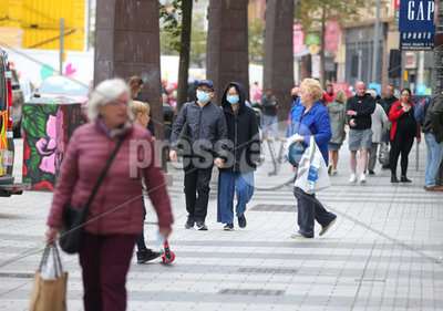 Shoppers Belfast City Centre