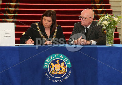 Book of condolence at Belfast City...