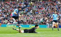 GAA Football All Ireland Senior Championship Quarter-Final, Croke Park, Dublin 2/8/2015. Dublin vs Fermanagh. Dublin\'s Bernard Brogan celebrates scoring a goal. Mandatory Credit ©INPHO/Cathal Noonan