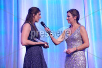 Press Eye - Belfast - Northern Ireland - 6th February 2017 -  . Belfast Telegraph Sports Awards 2016.. Award 4 - Sports Person with a Disability award. Bethany Firth won the Sports Person with a Disability award, sponsored by Crowne Plaza Belfast. She was presented with the award by George Graham, general manager of Crowne Plaza Belfast and former top Ireland cricketers, Kyle McCallan and Andrew White.. Bethany Firth with Claire McCollum. Photo by Kelvin Boyes / Press Eye..