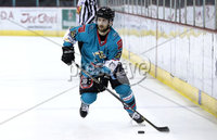 Press Eye - Belfast, Northern Ireland - 06th December 2019 - Photo by William Cherry/Presseye. Belfast Giants\' Ryan Lowney during Friday nights Elite Ice Hockey League game at against Sheffield Steelers the SSE Arena, Belfast.       Photo by William Cherry/Presseye.
