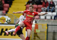 . Danske Bank Premiership, Solitude, Belfast 3/11/2018. Cliftonville vs Glentoran. Cliftonville\'s Ross Lavery  in action with Glentorans John Herron. Mandatory Credit INPHO/Stephen Hamilton