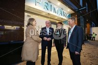 Press Eye - Belfast Northern Ireland - 6th December 2018 . The Secretary of State for Northern Ireland Karen Bradley MP is pictured meeting with senior management of Primark in Belfast city centre ahead of its official re-opening this weekend. Pictured left to right: Ben Mansfield, Director, Jacqui Byers, Store Manager, SoS Karen Bradley and Neale Kirk, NI Area Manager.. Photo by Kelvin Boyes / Press Eye..