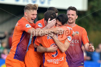 © Presseye.com- August 12th 2017, Danske Bank Premiership.. Warrenpoint Town v Glenavon %:30 Kick off.. Glenavon\'s Bobby Burns. celebrates after scoring to make it 2-3. during Saturday\'s match at Milltown. Photo by TONY HENDRON/Presseye.com. .