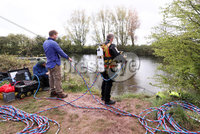 Press Eye - Belfast - Northern Ireland  - 4th May 2021. PSNI begin new search for woman Lisa Dorrian who was murdered 16 years ago.  An underwater team have begun searching disused clay pits in the Ballyhalbert area of Co. Down.  The now nature reserve is one mile from the caravan site where the 25-year-old was last seen alive in 2005. . Search teams at the clay pits. . Picture by Jonathan Porter/PressEye